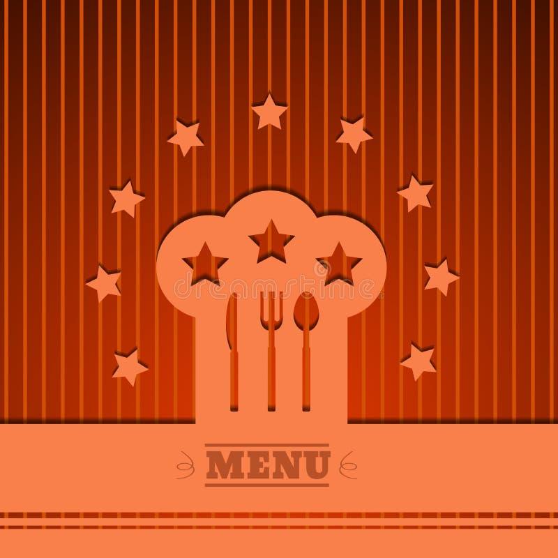 Tło szefa kuchni kapeluszu znaka menu Kulinarnego symbolu pomarańczowy wektor eps 1 ilustracja wektor