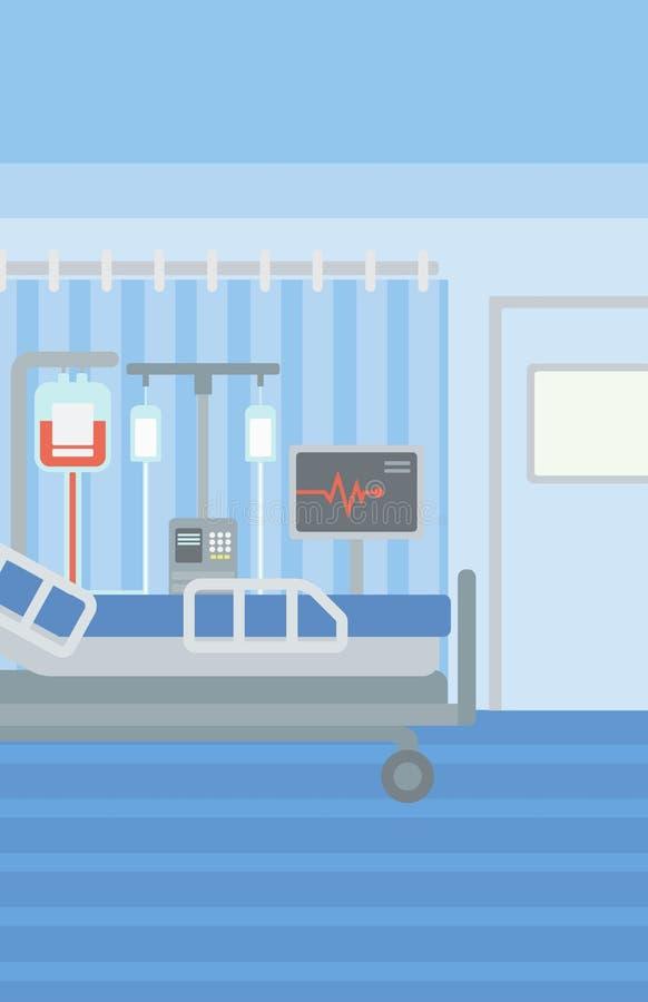 Tło szpitalny oddział ilustracji