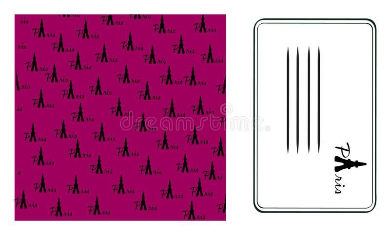 tło target652_0_ Paris karcianego wektor royalty ilustracja