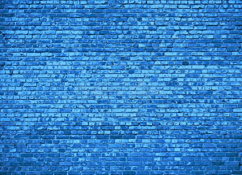 Tło tekstura ściana, cegła błękitny colour royalty ilustracja