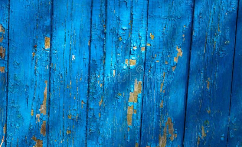 Tło tekstura błękitne drewniane deski zdjęcia stock