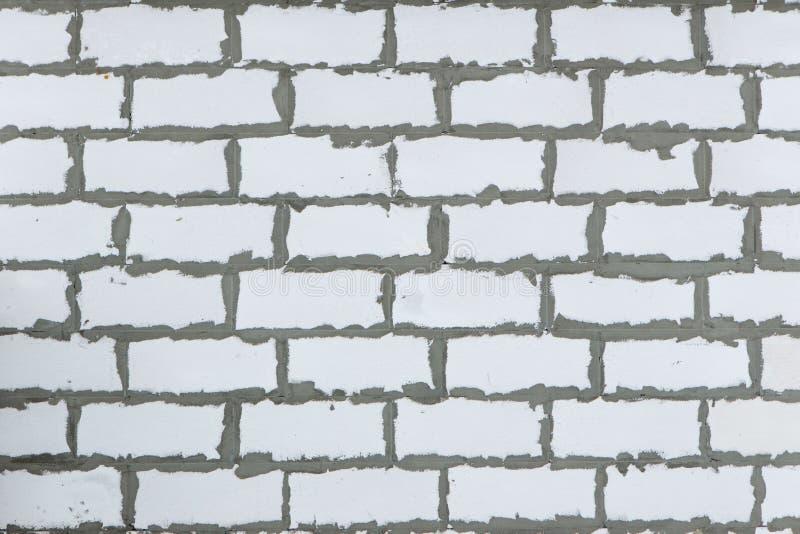Tło tekstura biały Wagi lekkiej betonowy blok, surowy materiał dla przemysłowej ściany obraz royalty free