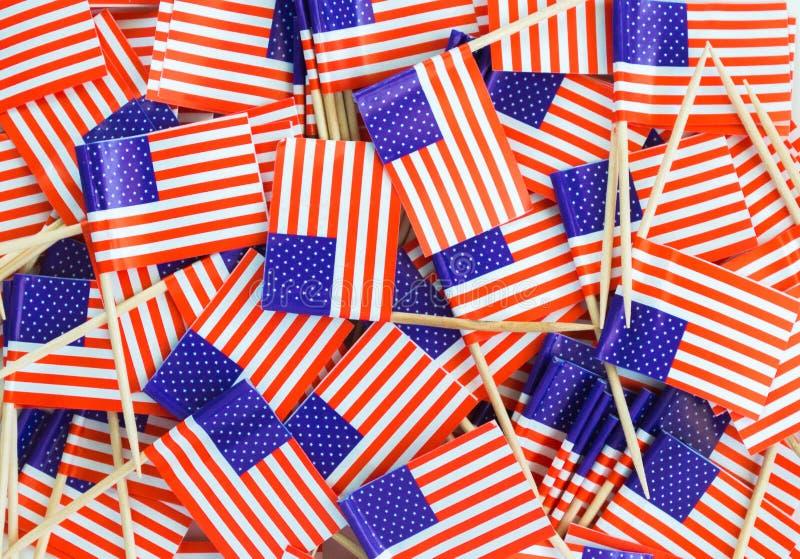Tło tekstura - bigos flag amerykańskich wykałaczki obraz royalty free