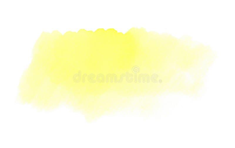 Tło tekstura: Jasnożółta akwarela royalty ilustracja