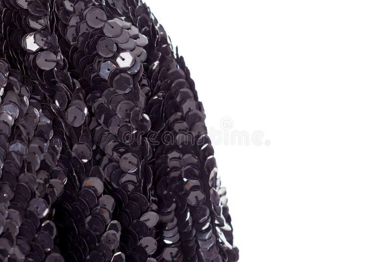 Tło - tekstura projektanta świątecznej tkaniny upiększeni cekiny, koraliki obrazy stock