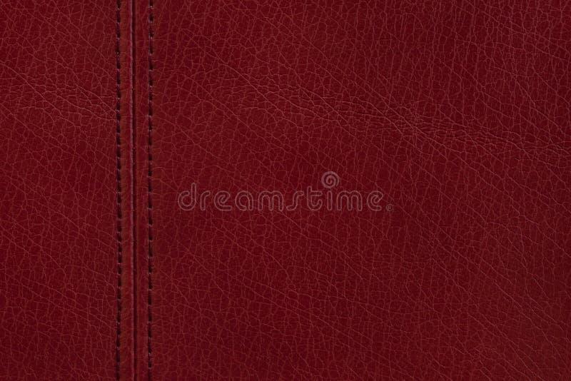 tło tekstura rzemienna czerwona obraz stock