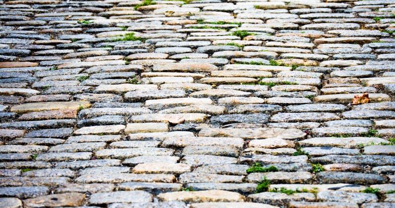 Tło tekstury brukowa ulica w Boston zdjęcie stock
