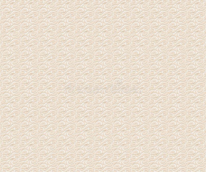 Tło tekstury ornament Wektorowy Illustratio Biały beż ilustracji