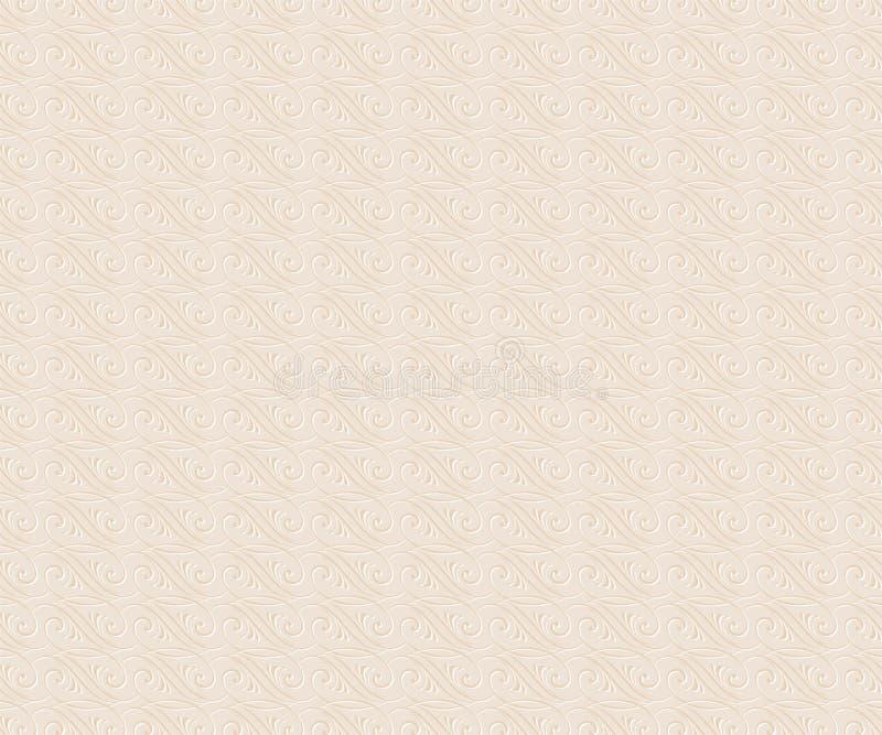 Tło tekstury ornament Wektorowy Illustratio Biały beż royalty ilustracja