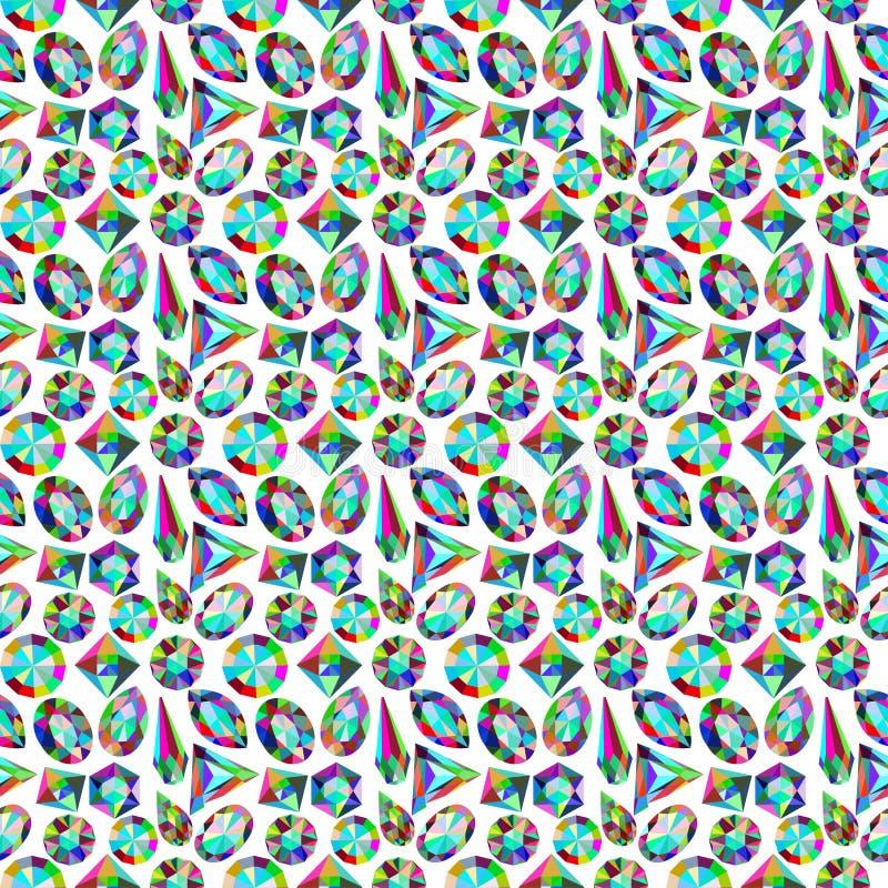 Tło tekstury wzór cenni kamienie d ilustracja wektor