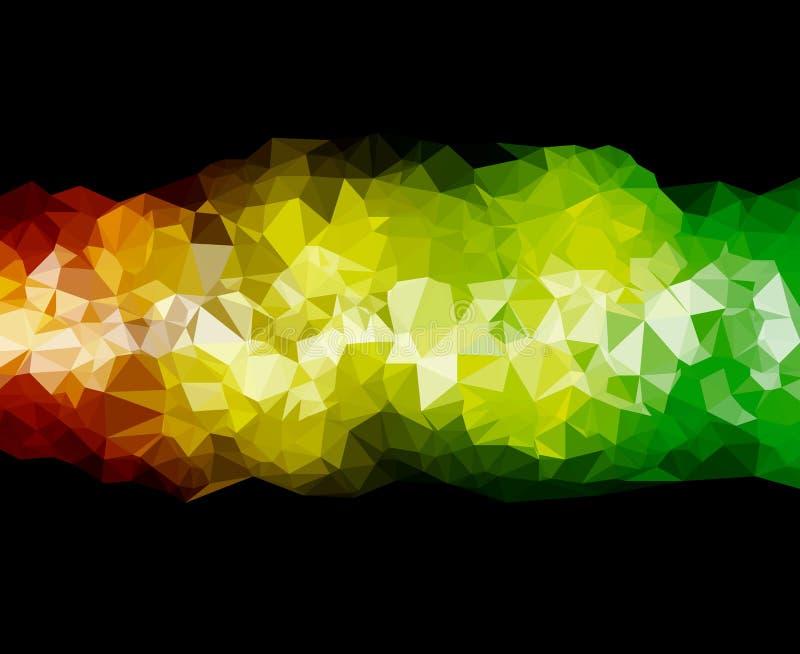 Tło trójboka geometrii wzoru koloru abstrakcjonistyczny kreskowy widmo ilustracji