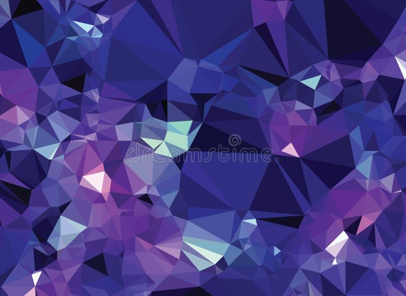 Tło trójboka geometrii wzoru kryształu abstrakcjonistyczny wszechświat royalty ilustracja