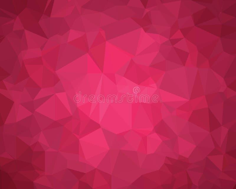 Tło trójboka geometrii wzoru purpur abstrakcjonistyczna twórczość ilustracja wektor