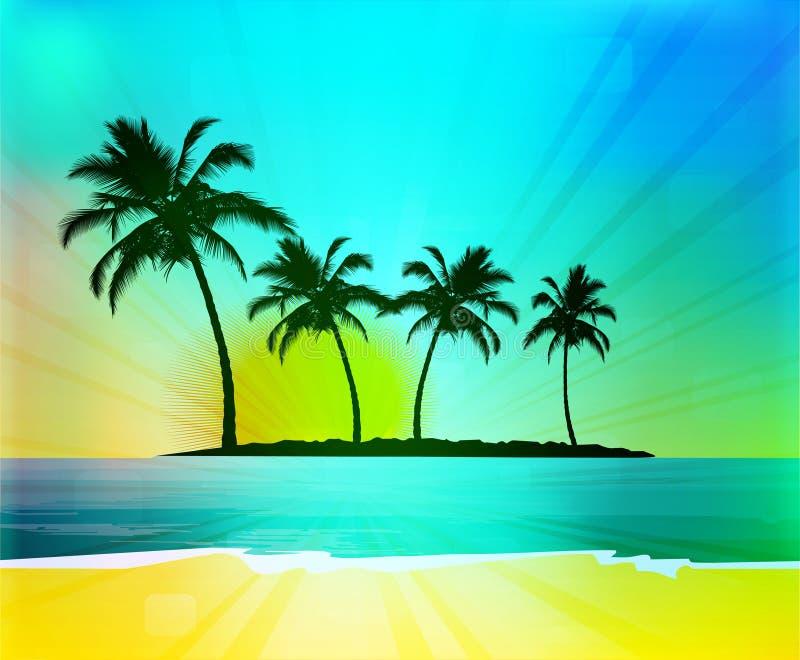 tło tropikalny ilustracji