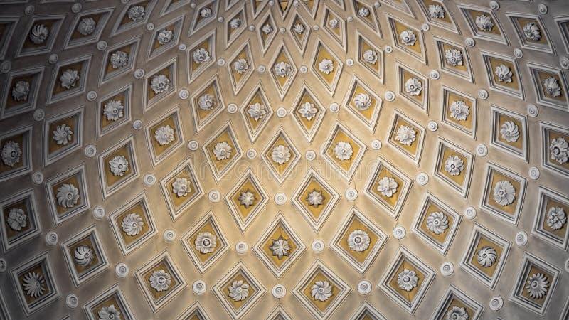 Tło tworzący katedralnego sufitu szczegółem zdjęcia stock