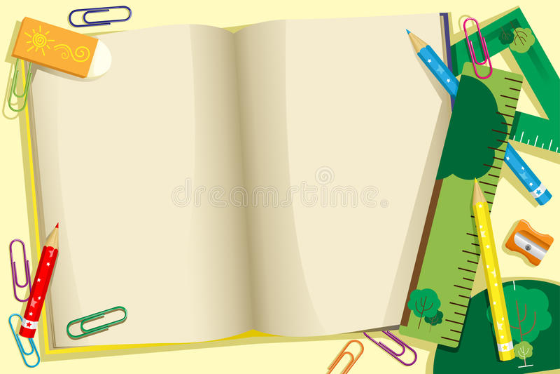tło tylna szkoła ilustracji
