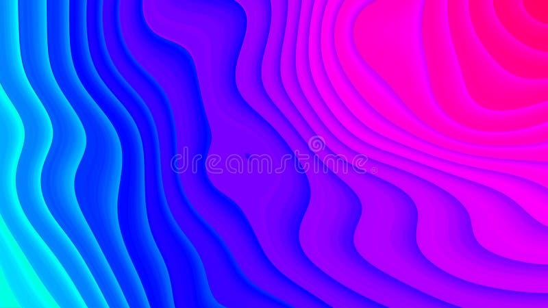 Tło w papieru stylu z różnorodność kolor liniami fotografia stock