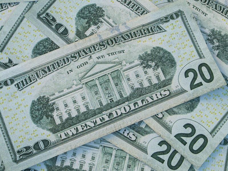 Tło waluty amerykańskiej Dolary Stanów Zjednoczonych Ameryki Tło dolara amerykańskiego fotografia royalty free