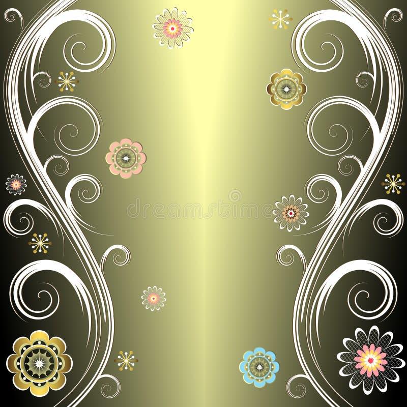 tło wektor kwiecisty srebrzysty ilustracja wektor