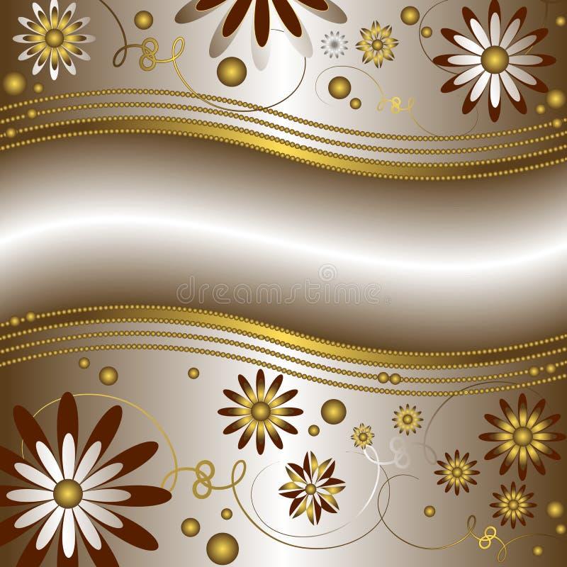 tło wektor kwiecisty srebrzysty ilustracji