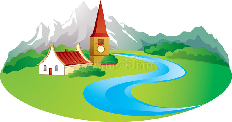 tło wiejski ilustracja wektor