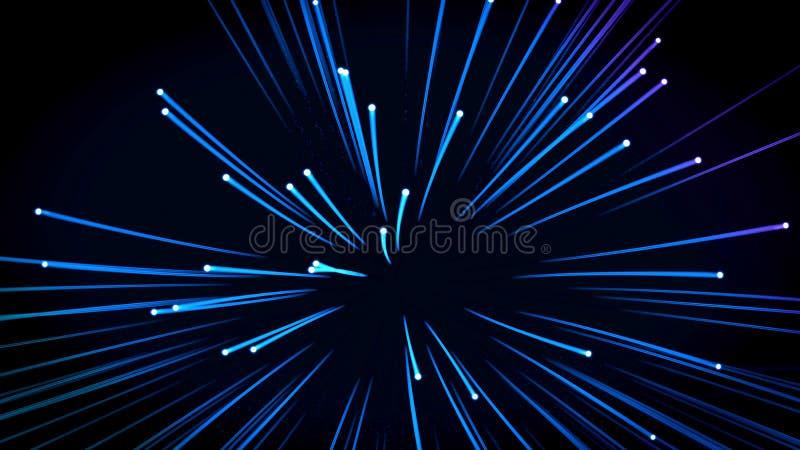 Tło: wiele światłowody ilustracja wektor