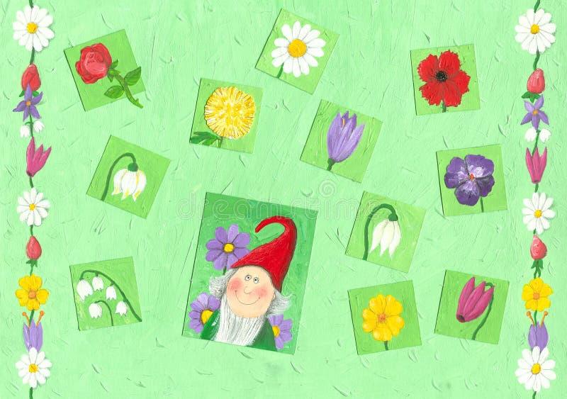 tło wiosna ilustracji