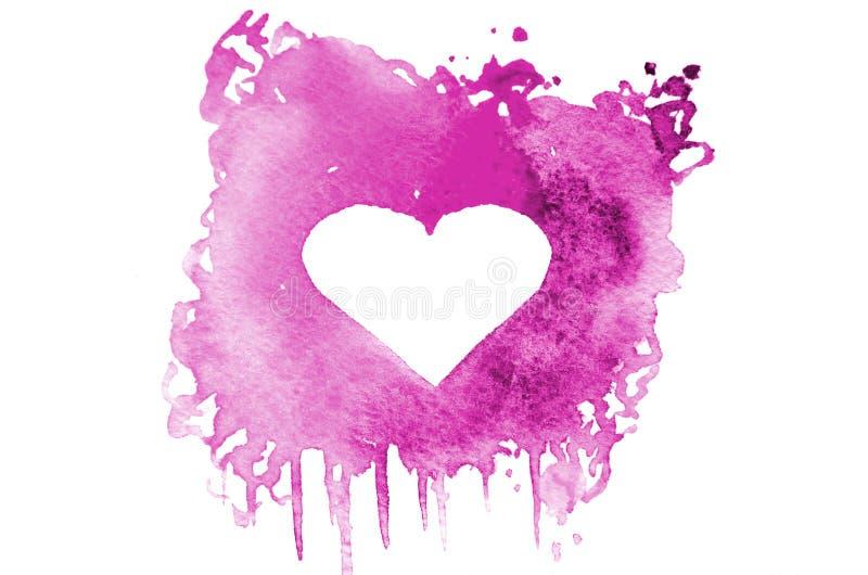 Tło wizerunek abstrakcjonistyczni akwarela punkty tworzy przypadkowego kształt purpury barwi z przestrzenią dla teksta w postaci  ilustracji