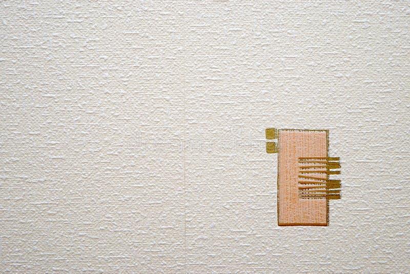 Tło wizerunek biała prostacka papierowa tekstura zdjęcia stock