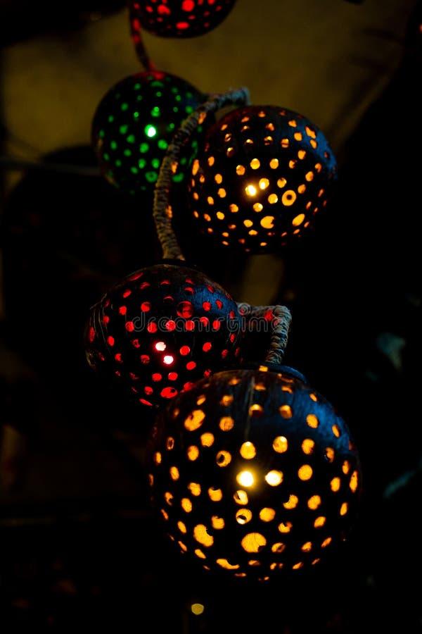 Tło wizerunek z round lampami jako okrąg obrazy stock