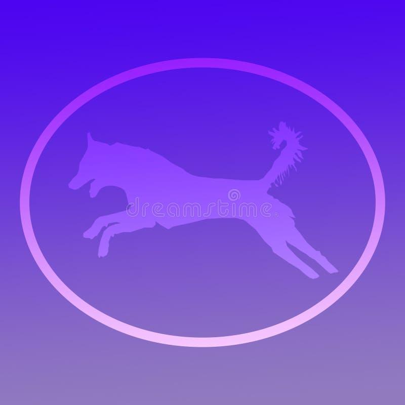 Tło wizerunku logo doskakiwania pies royalty ilustracja