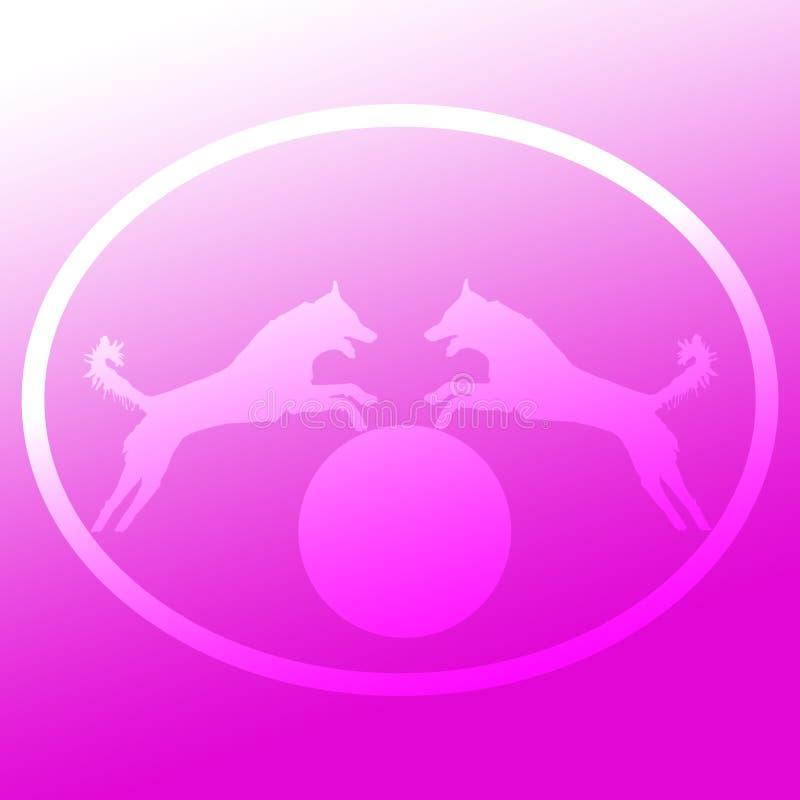 Tło wizerunku logo doskakiwania pies ilustracja wektor