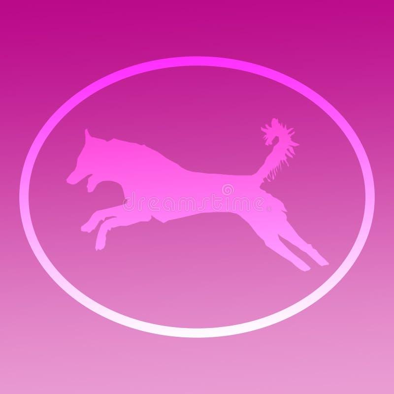 Tło wizerunku logo doskakiwania pies ilustracji