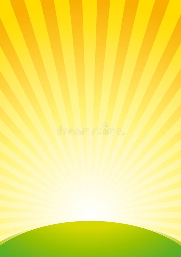 tło wschód słońca ilustracji