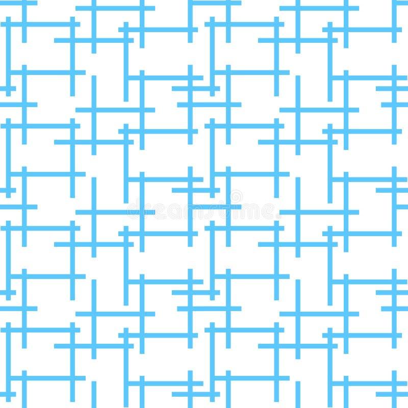 Tło wzór z abstrakcjonistycznym niekończący się błękit sieci labiryntem ilustracji