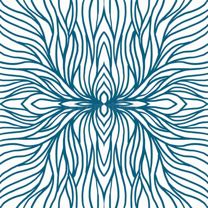 T?o wzoru korze? dla druk tkaniny i abstrakcjonistycznej sztuki ilustracji