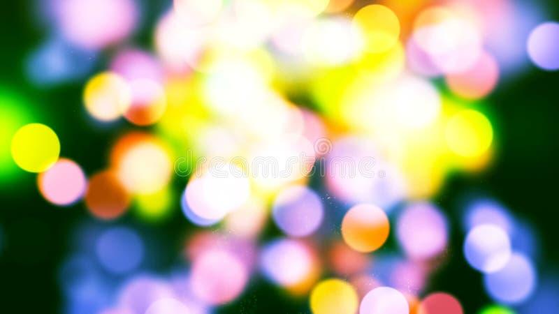 Tło z ładnym multicolor bokeh zdjęcia royalty free
