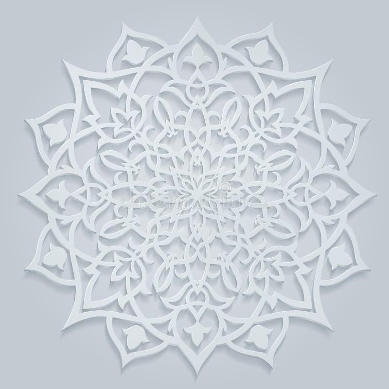 Tło z Arabskim Round wzorem ilustracji