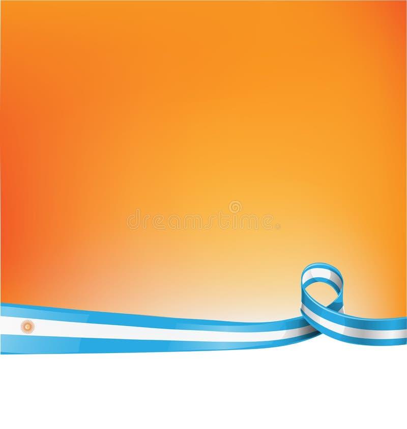 tło z Argentina flaga royalty ilustracja