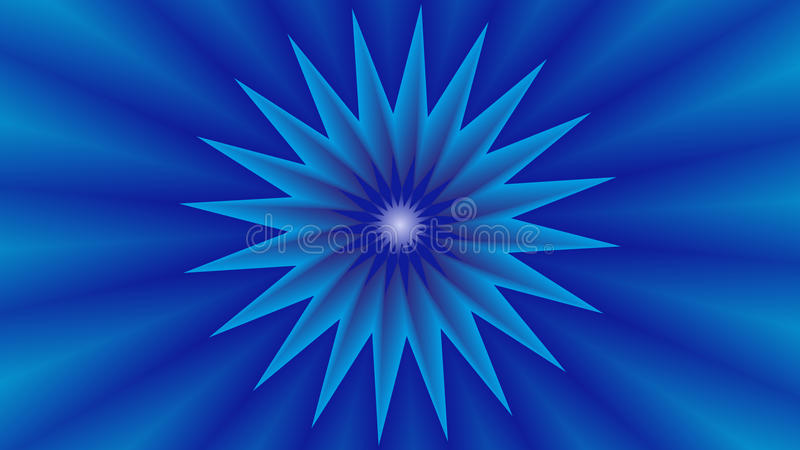 Tło z błękitną gwiazdą w środku zdjęcia royalty free