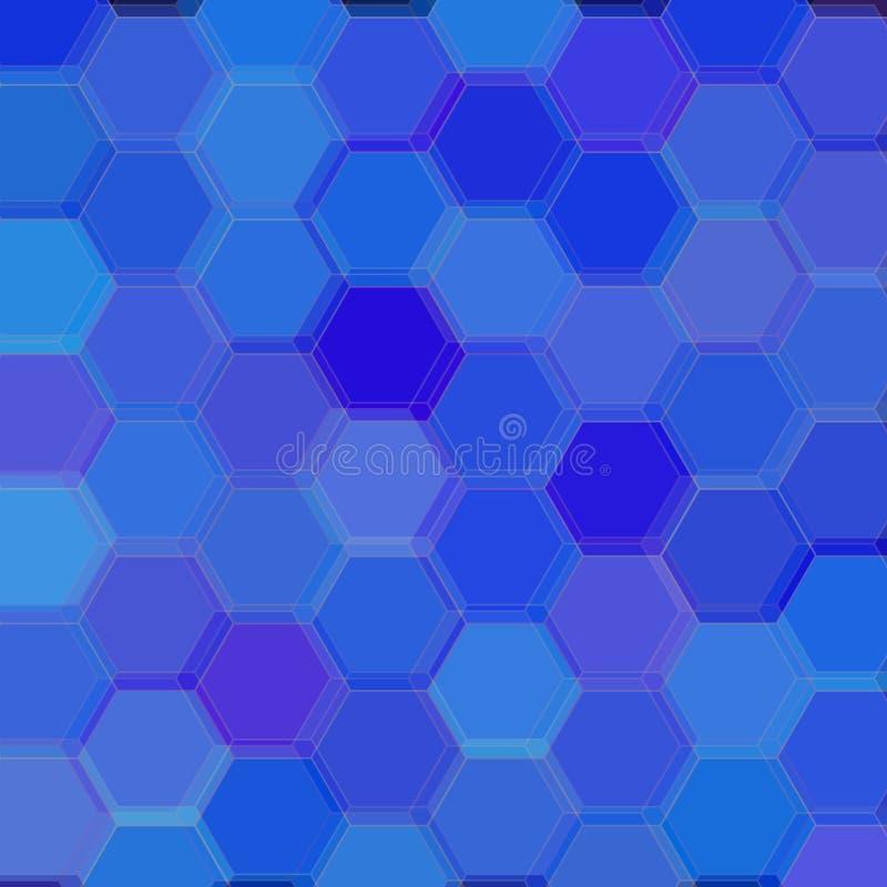 Tło z błękitnymi sześciokątami raster ilustracji