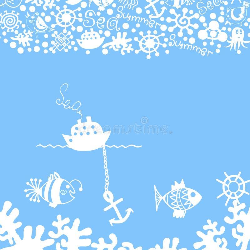 Błękitny ilustracja wektor