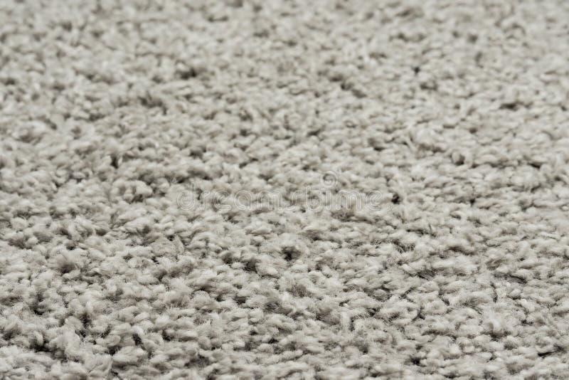 Tło z białej naturalnej tkaniny dywanowej Fragment maty szaggy tkaniny zdjęcie royalty free