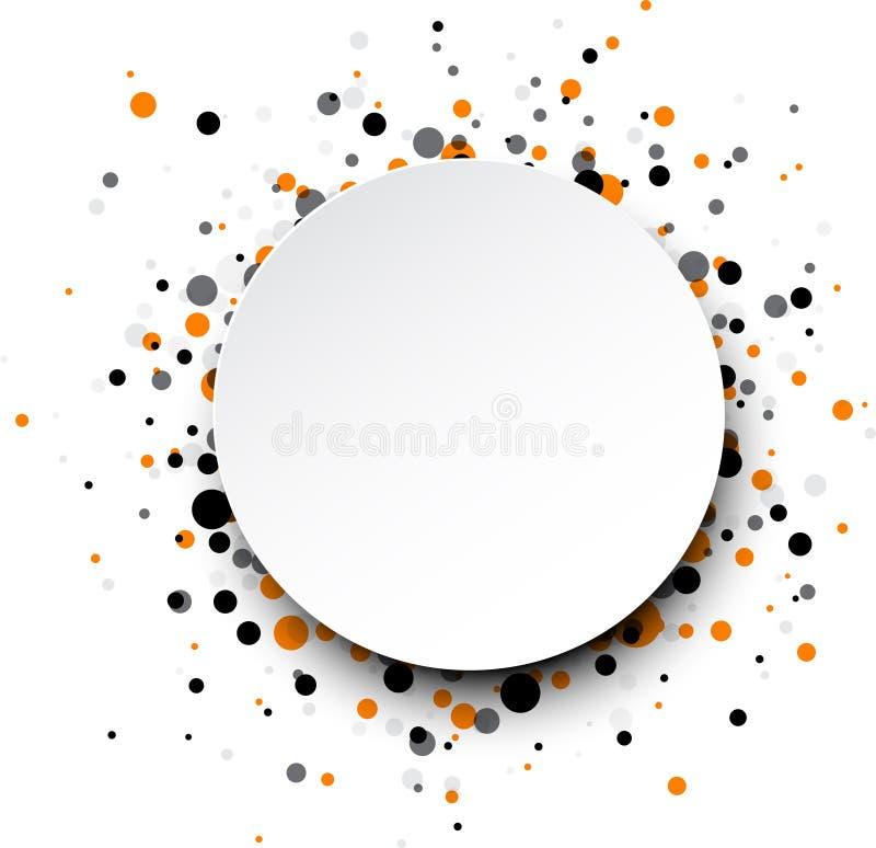 Tło z colour kroplami ilustracji
