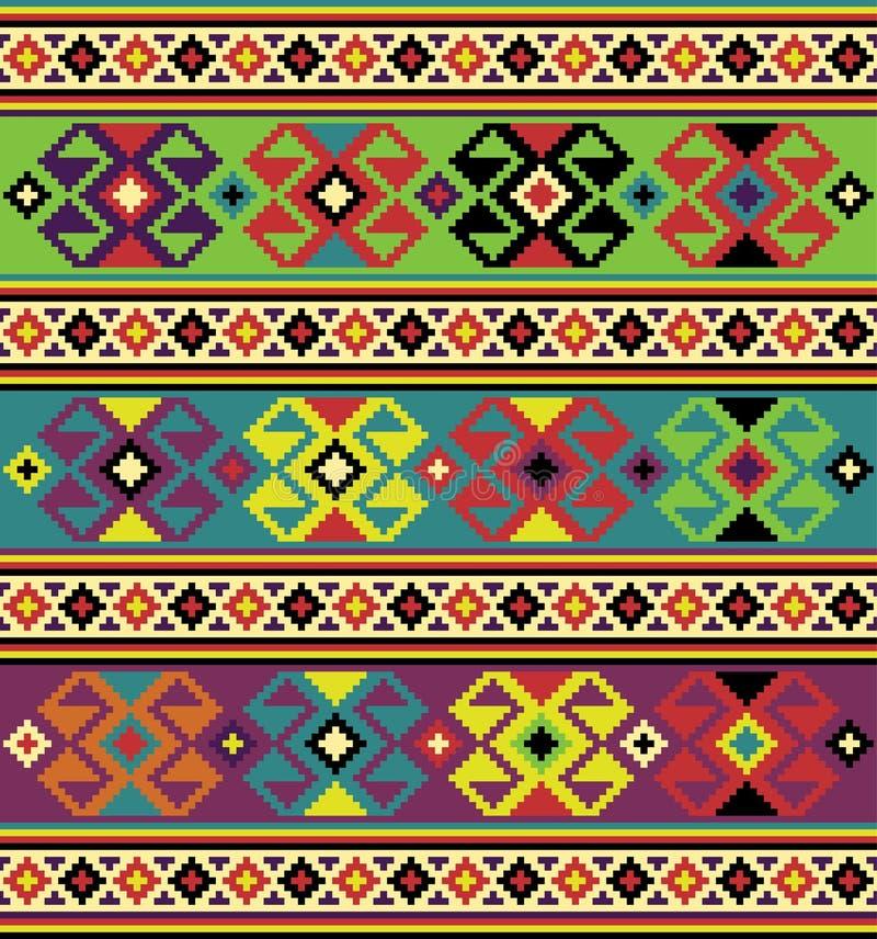Tło z etnicznymi motywami. ilustracja wektor