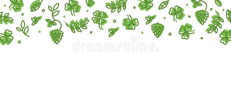 Tło z ikonami na St Patrick dniu ilustracji