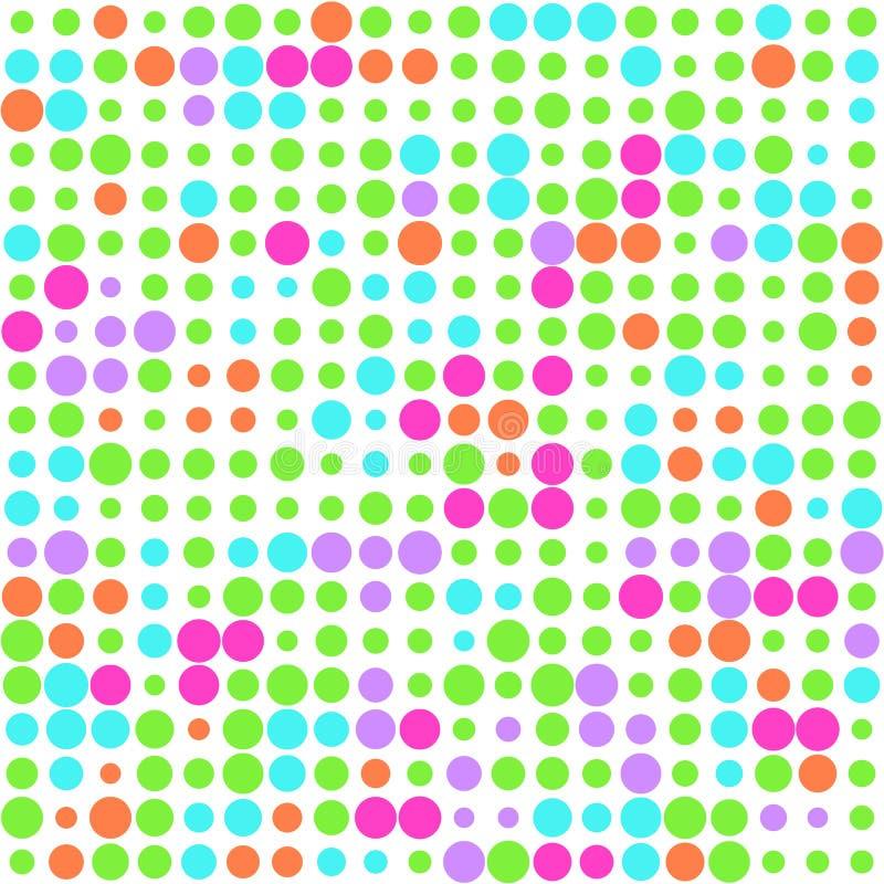Tło z kolorowymi okręgami dla projekta ilustracja wektor