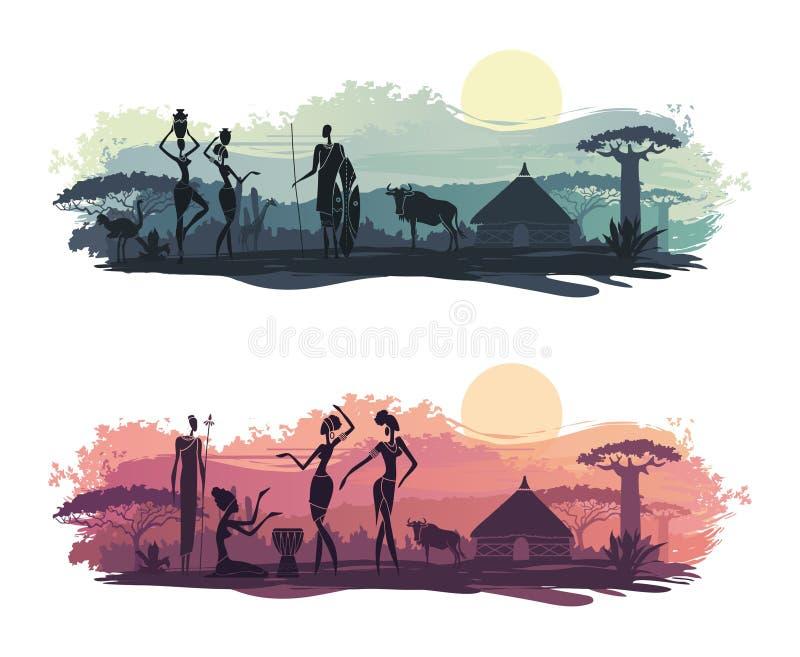 Tło z krajobrazem Południowa Afryka