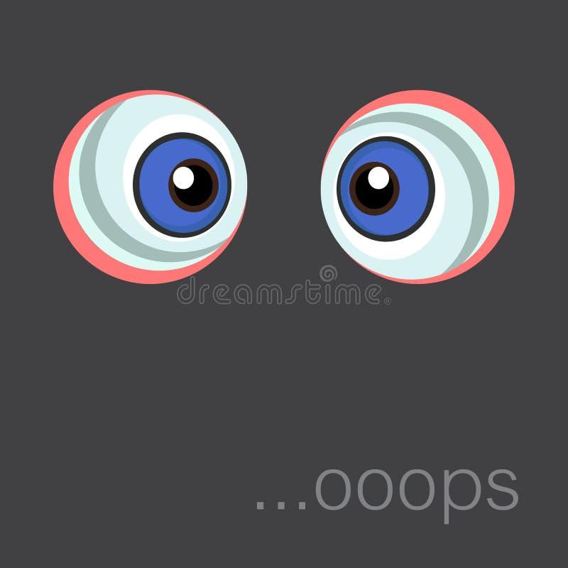Tło z kreskówek oczami 10 eps ilustracja wektor