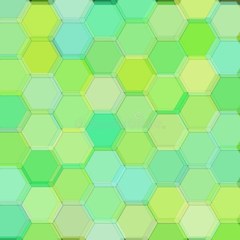 Tło z kwas zieleni sześciokątami raster ilustracja wektor